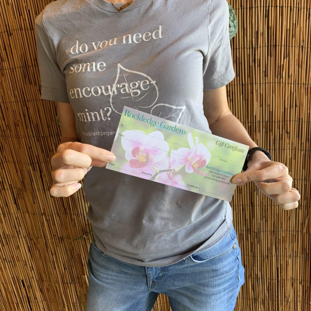 t-shirt and garden pun t-shirt