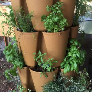 vertical tower with herbs