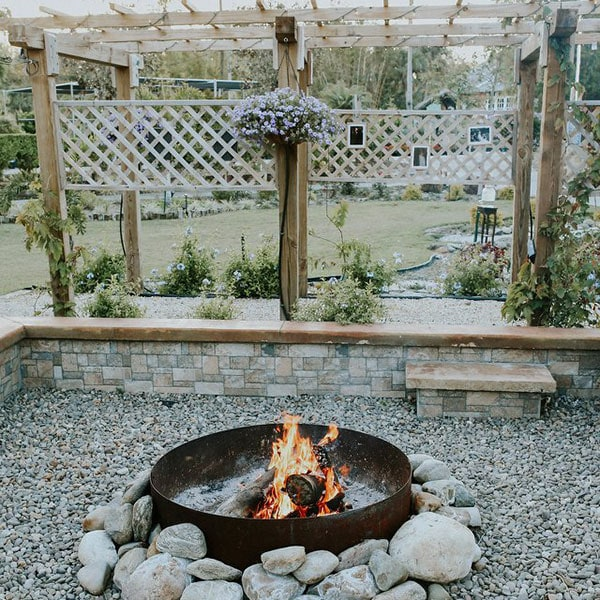 Rockledge Gardens fire pit
